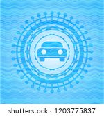 car seen from front icon inside ... | Shutterstock .eps vector #1203775837