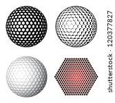 vector golf ball symbols | Shutterstock .eps vector #120377827