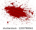 abstract vector claw with blood ... | Shutterstock .eps vector #1203780061