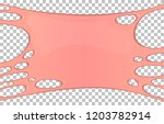 pink sticky slime banner with... | Shutterstock .eps vector #1203782914