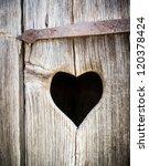 Wooden Heart At An Antique...