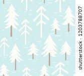christmas snowman seamless... | Shutterstock .eps vector #1203788707