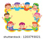 active smart kid | Shutterstock .eps vector #1203793021