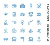 collection of 25 car outline... | Shutterstock .eps vector #1203801961