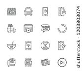 collection of 16 ui outline...