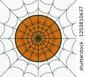 cobweb background. spiderweb... | Shutterstock .eps vector #1203810637