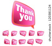 thank you message stickers set. ... | Shutterstock .eps vector #120381124