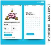 recurring deposit money app for ... | Shutterstock .eps vector #1203815977