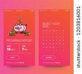 recurring deposit money app for ... | Shutterstock .eps vector #1203816001