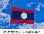 lao people's democratic... | Shutterstock . vector #1203818824