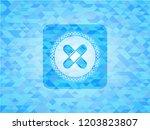 crossed bandage plaster icon... | Shutterstock .eps vector #1203823807