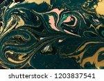 gold marbling texture design.... | Shutterstock . vector #1203837541
