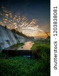 beautiful golden sky at kali... | Shutterstock . vector #1203838081