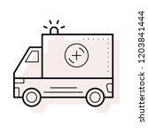 ambulance   rescue   siren   | Shutterstock .eps vector #1203841444