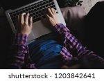 high school college university... | Shutterstock . vector #1203842641