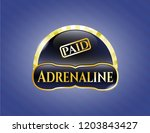 golden badge with paid icon... | Shutterstock .eps vector #1203843427