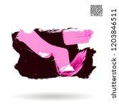 brush stroke and texture.... | Shutterstock .eps vector #1203846511