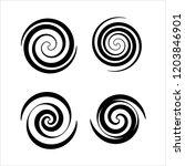 spiral collection  archimedean  ... | Shutterstock .eps vector #1203846901