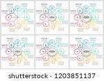 unique infographics template | Shutterstock .eps vector #1203851137