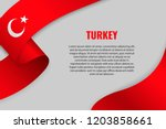 waving ribbon or banner with... | Shutterstock .eps vector #1203858661