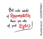 be more aware of responsibility ... | Shutterstock .eps vector #1203859867