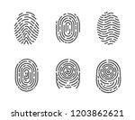 identification fingerprints... | Shutterstock .eps vector #1203862621
