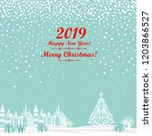 2019 happy new year greeting... | Shutterstock .eps vector #1203866527