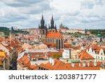 prague  czech   september 22 ... | Shutterstock . vector #1203871777