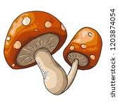 mushroom. vector illustration...   Shutterstock .eps vector #1203874054
