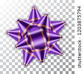 purple bow ribbon 3d decor... | Shutterstock .eps vector #1203875794