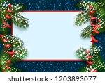 new year. christmas. postcard ...   Shutterstock . vector #1203893077