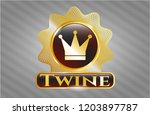 gold badge or emblem with...   Shutterstock .eps vector #1203897787
