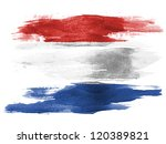 the netherlands flag painted on ... | Shutterstock . vector #120389821