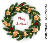 merry christmas greeting catd... | Shutterstock .eps vector #1203907951