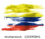 the colombian flag painted on... | Shutterstock . vector #120390841