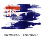 the australian flag painted on  ... | Shutterstock . vector #120390907