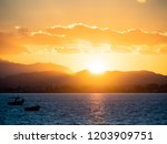 Silhouettes Of Fishing Boats In ...