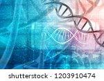 3d render of dna structure ... | Shutterstock . vector #1203910474