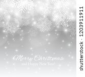 merry christmas background with ... | Shutterstock .eps vector #1203911911
