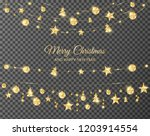 christmas golden decoration... | Shutterstock .eps vector #1203914554
