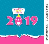 2019 happy new year greeting... | Shutterstock .eps vector #1203915451