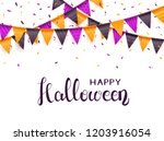 lettering happy halloween on... | Shutterstock .eps vector #1203916054