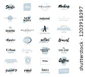 collection of logos and... | Shutterstock .eps vector #1203918397