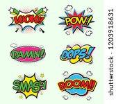 comic speech bubbles set with...   Shutterstock .eps vector #1203918631
