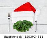 santa s beard made out of... | Shutterstock . vector #1203924511