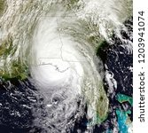 Small photo of Hurricane Michael made landfall near Mexico Beach, Florida. Elements of this image are furnished by NASA