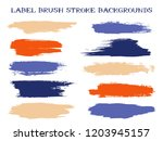 cool label brush stroke... | Shutterstock .eps vector #1203945157