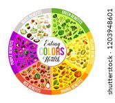 healthy food of color diet with ... | Shutterstock .eps vector #1203948601