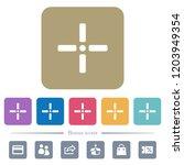 precise cursor white flat icons ... | Shutterstock .eps vector #1203949354