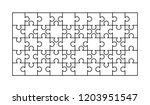 50 white puzzles pieces... | Shutterstock .eps vector #1203951547